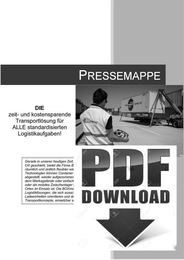 Pressemappe - BOXmover GmbH